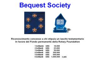 Riconoscimento Bequest Society